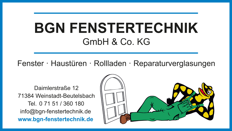 BGN Fenstertechnik GmbH & Co. KG aus Weinstadt